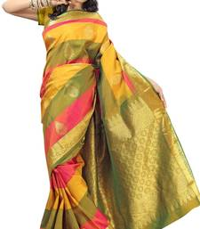 Buy Sudarshan silks Pure Silk  Kanjeevaram Hand woven Saree-Multicolor-Silk-DHLS31 silk-saree online