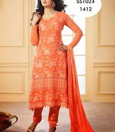 Buy Orange Designer Anarkali Suit anarkali-salwar-kameez online