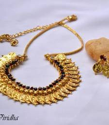 Buy Gold Plated Coin Design Traditional Necklace Set Necklace online