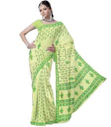 Buy Kota Doria Ethnic Maroon Designer Cotton Sari 193 cotton-saree online