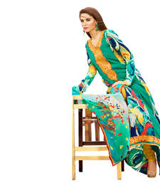 Buy Hypnotex Green Crepe Dress Material Bold81B dress-material online