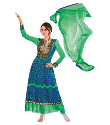 Buy Hypnotex Green Georgette Dress Material Tulsi9102 dress-material online