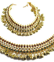 Buy gold plated pair of anklets anklet online