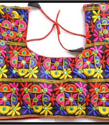 Buy Multicolor Kutch Embroidered Traditional designer Blouse readymade-blouse online