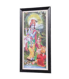 Buy Radha-Krishna 14 Inch X 25 Inch Abstract Art Print | Textured Fra... painting online