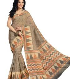 Buy Triveni Chic Printed Casual Wear Comfortable Cotton Saree 350 cotton-saree online