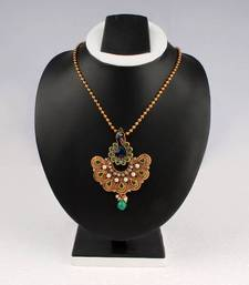 Buy Green Peacock Earring & Pendant Necklace necklace-set online