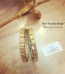 "Buy Reet Kundan Bangle - 2-6"" size bangles-and-bracelet online"