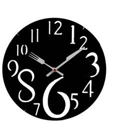 Buy Pretty Black Round Analog Wall Clock wall-clock online