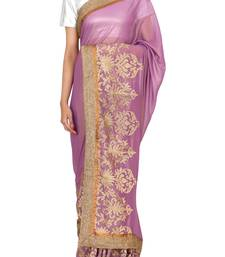 Buy RAAS SHIMMER Purple Sarees shimmer-saree online