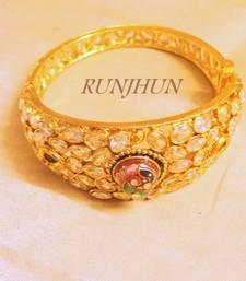 Buy side open ganesha stone bracelet single bangles-and-bracelet online