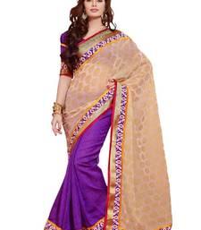 Buy Purple Viscose Georgette And Jut Exclusive Designer Saree viscose-saree online