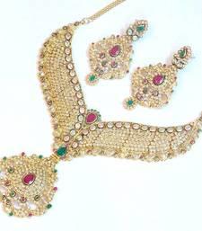 Buy Royal elegant bridal wear set 1076 bridal-set online