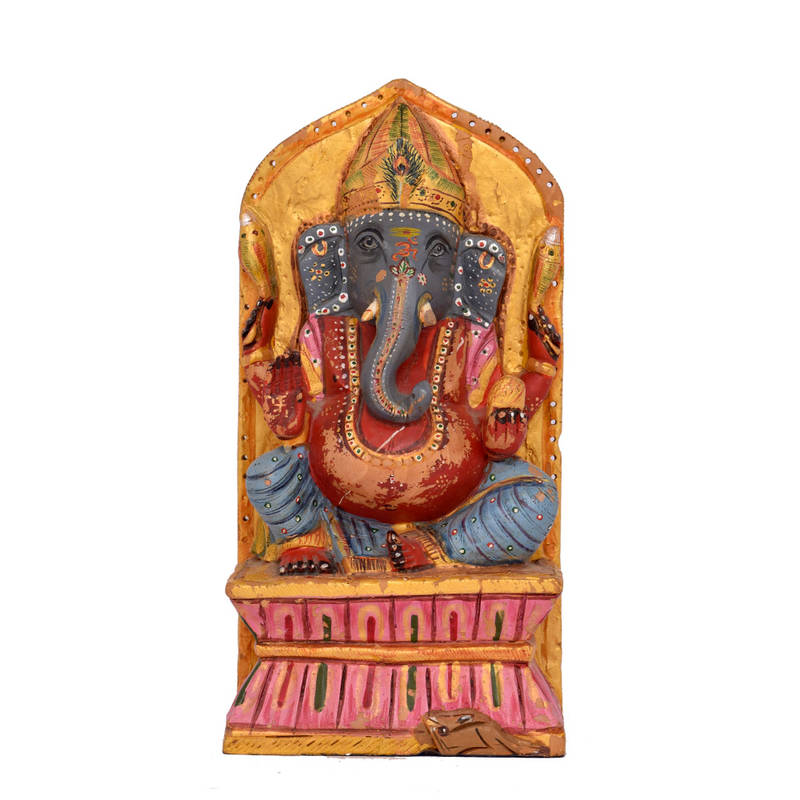 Buy good luck ganesh statue idol with for home decor for Good luck home decor