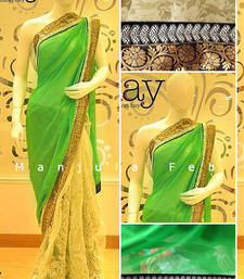 Buy DESIGNER GREEEN HALF HALF SAREE other-actress-saree online