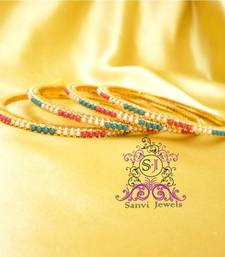 Buy Single Line Multi Colour Polki Bangels bangles-and-bracelet online