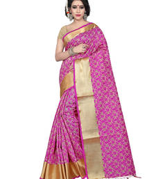 Buy Pink color tussar silk saree with blouse tussar-silk-saree online