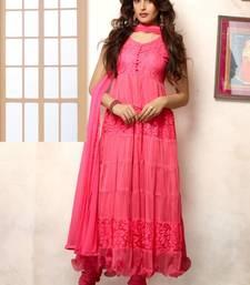 Buy Pink Designer Anarkali Suit / salwar kameez anarkali-salwar-kameez online