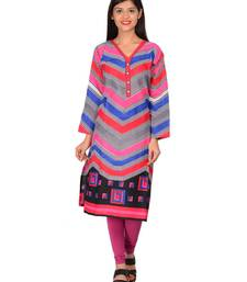 Buy Multicolor printed cotton unstitched kurti kurtis-below-300 online