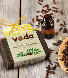 Buy Neem oil tea tree clove natural handmade soap personal-cis online