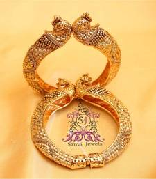 Buy Antique Peacock Openable Bangles bangles-and-bracelet online