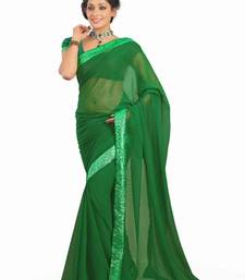 Buy Kareena Bodyguard Movie Green Georgette Saree  kareena-kapoor-saree online