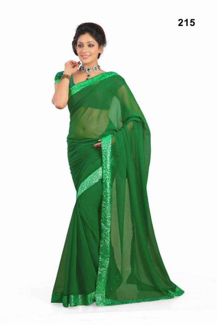 Buy Kareena Bodyguard Movie Green Georgette Saree Online