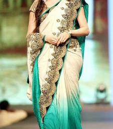 bollywood sofhie with bhagyashree white gorgette saree shop online