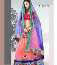 Buy Bright and beautiful flouroscent colored lehenga choli in net fabric lehenga-choli online