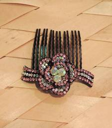 Buy Pink Silver Sprakly Comb Clip hair-accessory online