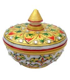Buy Chitrahandicraft Marble Powder Box (Pot) other-home-accessory online