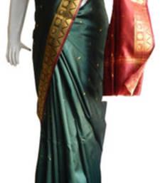 Buy Green & Red Banarasi Silk Saree 1112-2170 banarasi-silk-saree online