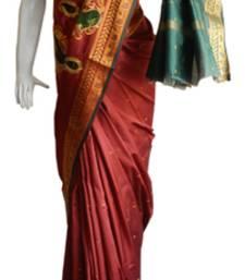 Buy Red & Green Banarasi Silk Saree 3805-2304 banarasi-silk-saree online