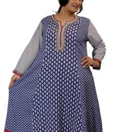Buy Dorabella Women's Designer Cotton Kurti [N1156A_Navy] kurtas-and-kurti online