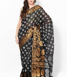 Buy Faux Cotton Silk Fancy Banarasi Zari Work Saree cotton-silk-saree online