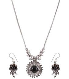 Buy Black Stone simple Ethnic Style Necklace Set  necklace-set online