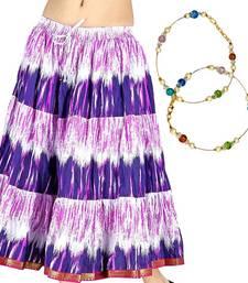 Buy Buy Tie Dye Cotton Skirt n Get Brass Payal Free skirt online