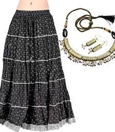 Buy Buy Booti Cotton Long Skirt n Get Necklace Set Free skirt online