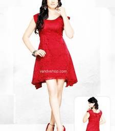 Buy Red Hot Western Designer Dress dress online