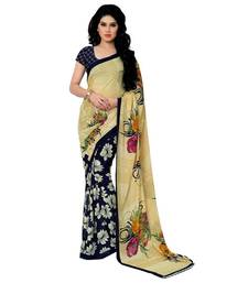 Buy Multicolor printed chiffon saree with blouse chiffon-saree online