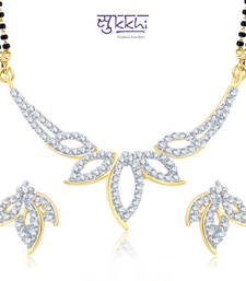 Sukkhi Glittery Gold and Rhodium Plated Cubic Zirconia Stone Studded Mangalsutra Set(14015MSCZK1700) shop online