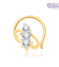 Buy Sukkhi Fascinating Gold and Rhodium Plated CZ Nose Pin(36005NPCZK200) nose-ring online