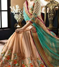Buy Sarees Multicolor Sari embroidered georgette saree with blouse designer-embroidered-saree online