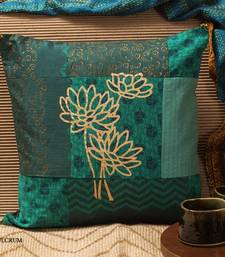Buy Cushion cover - Teal Patchwork pillow-cover online