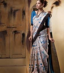 Buy Aavaranaa Black & BlueOrganza silk sarees organza-saree online