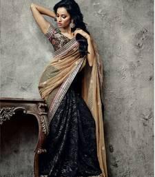 Buy Vishal Chikoo Black Black Saree Iifanazakat33510 party-wear-saree online