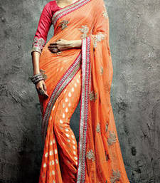 Buy Vishal Orange Maroon Saree Iifanazakat33520 party-wear-saree online