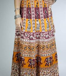 Buy Block Print Wrap Around Skirt navratri-skirt online