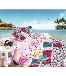 Buy Just Linen Multicolored Checks Printed Micro Cotton XL Size Flat Bedsheet Set bed-sheet online