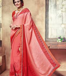 Buy Multicolor embroidered georgette saree with blouse party-wear-saree online